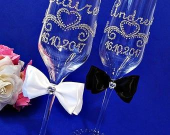 wedding glasses etsy