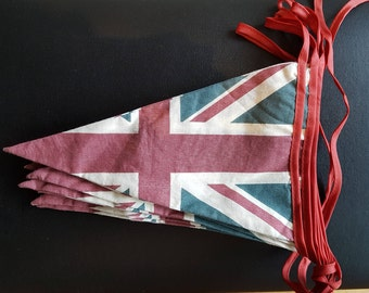 Union Jack Bunting, Slightly Faded Effect.