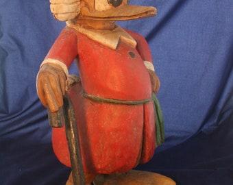 Walt Disney's Dagobert Duck-Wooden Figurine Statue