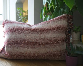 Bespoke Woven Ombre Satins Cushion with Tassel