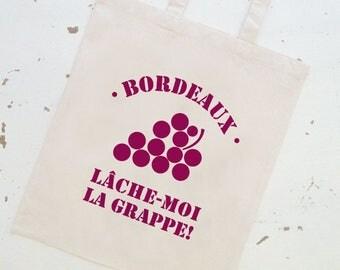 """TOTE BAG """"give me a break!"""" Burgundy!"""