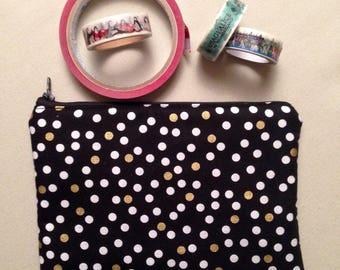 Cotton and leatherette pencil case/pen holder