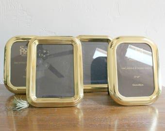 Vintage Solid Brass Frame, 5x7 Photo Frame, Standing Frame Picture Frame, Wedding Table Decor, Table Number Frame Gold Frame Table Top Frame