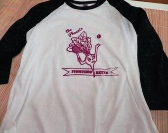 Phoenix Fighting Beets Tennis Sports Veggie Mascot, Kids Baseball Style T-shirt, Unisex Kids Sizes