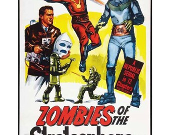 Zombies Of The Stratosphere Movie Poster Art - Vintage Print Art - Home Decor - Movie Theater Poster