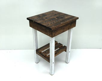 Nightstand/End Tables/ Bed Side Tables/Rustic Night Stand/Modern Farmhouse  Style