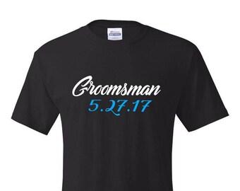 Bachelor Party Shirts,Groomsman T-Shirt, Groomsmen Tshirt, Groomsmen Gift, Groomsman Gift, Groom Tshirt, Wedding Party Shirts, Groom T shirt
