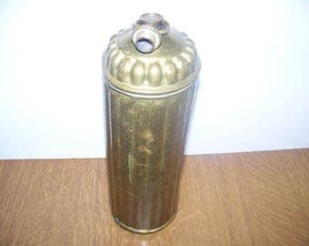 WW1 - Trench Art - heating - WW1 - shell casing Trench Art - Shell Socket Hot Water Bottle