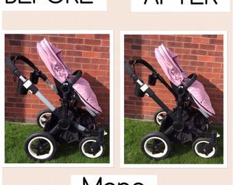 Bugaboo Frame ChassisCovers in a choice of Leatherette colours.