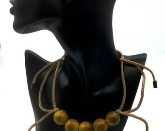 XL ethnic snake necklace
