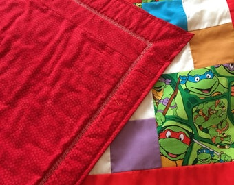 Teanage mutant ninja turtles quilt TMNT ****complete and ready to use*********