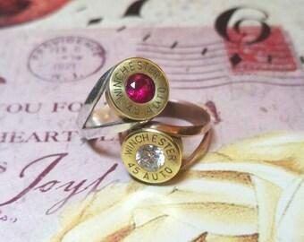 Handmade Winchester .45 bullet Ring