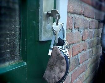 Keychain wallet/leather key chain wallet