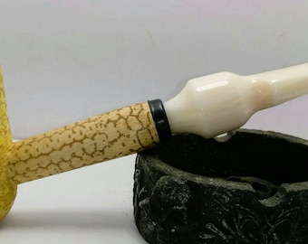 New Acrylic Corn Cob Replacement Stem For Filtered Missouri Meerschaum