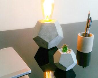 Geometric Concrete Lamp