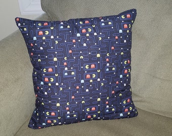 "80's Arcade Pacman 16"" x 16"" Decorative Throw Pillow (insert included)"