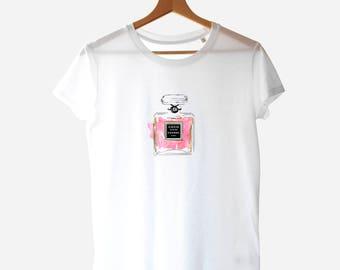 COCO PARFUM, Graphic TShirt, Hashtag Chanel, Chanel Fragrance, Chanel Perfume Chanel Tshirt Chanel Design Parfum Chanel T-shirt