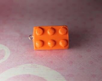Lego Brick Polymer Clay Charm - Custom Available