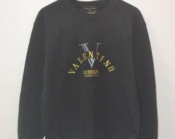 Vintage Rudolph Valentino logo sweatshirt 90s italy sweatshirt
