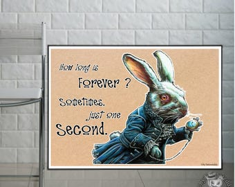 White Rabbit - Fine Art Print - A4/A3