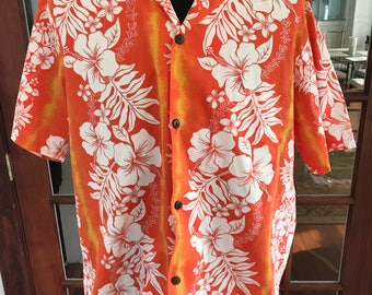 Vintage 1990's Authentic Made in Hawaii Hawaiian Shirt