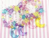 Moon Bracelet | Mahou Kei Bracelet | Pastel | Fairy Kei | Kawaii Bracelet | Rainbow Bracelet | Decora Bracelet | Magical Girl Bracelet
