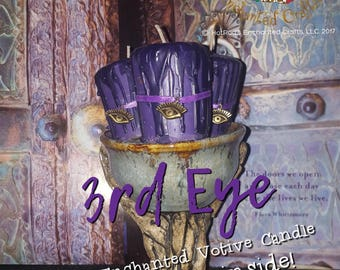 3rd Eye ~ Royal Enchanted Votive Candle