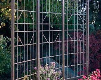 H Potter Large Iron Garden Trellis Screen, Metal Plant Trellis, Yard Art,  Room