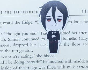 Kuroshitsuji - Magnetic bookmark - Sebastian || anime | manga lover gifts | bookmark | bookish | bookmarks | michaelis | magnetic bookmarks