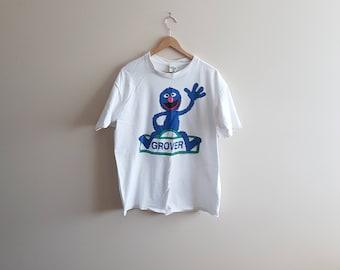 Vintage Grover shirt, super Grover, sesame street shirts, 90s sesame st, vintage sesame st, Jim Henson, Disney, puppets