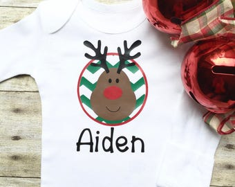 Personalized Christmas Onesie, Custom Onesie, Personalized Baby Clothes, Newborn Christmas Onesie, Baby Christmas Shirt, Personalized Name