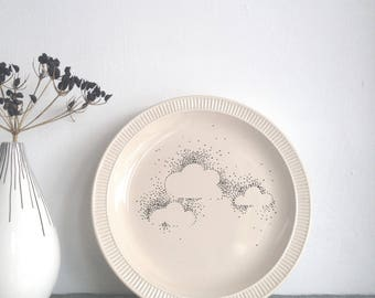 CLOUD PLATE // upcycled // illustrated ceramics // eco design