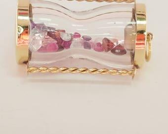 Precious Time 14K Gemstone Hour Glass