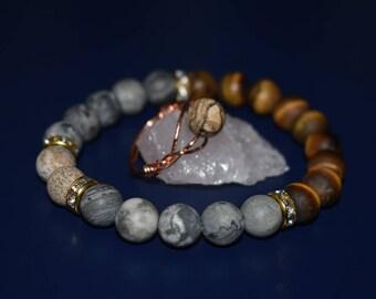 Jasper and Tiger Eye Jewellery Set