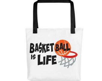 Basketball Tote Bag - Sports Bag - Basketball Bag - Sports Tote - Boys Bag - Overnight Bag - Basketball Fan Gift - Gift For Boy - Kids Bag