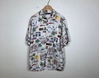 Vintage ESPN Button Up Size Medium, Sporty Button Up, 90s Button Up M