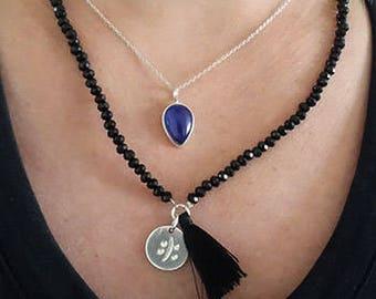 Mood ring stone necklace / mood stone necklace