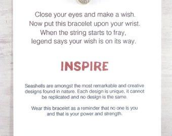 Muschel Wunsch Armband, Frauen Freundschaftsarmband, Einzigartigen Charme  Armband, Geschenk Für Beste