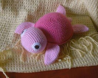 Turtle - soft crochet toy