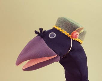 Hand Puppet- Fancy Crow