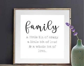 Family Home Decor, Farmhouse Decor, Wall Decor Print, Wall Printable, Family Printable, Farmhouse Printable, Farmhouse Wall Decor, Printable