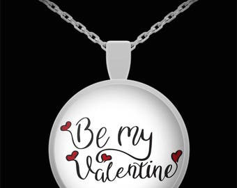 Be My Valentine Necklace I Love You Jewelry Gift Hearts