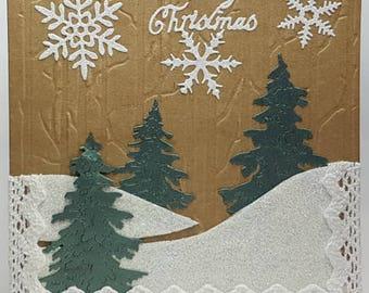 Christmas Card Tree Scene
