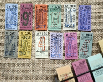 Original Vintage British Bus Tickets - S1