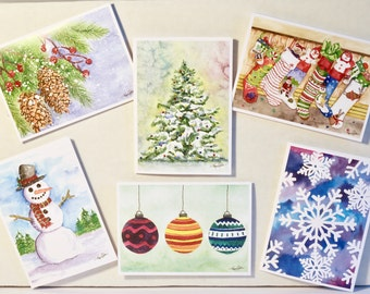 Christmas  Notecards (blank inside) with envelopes
