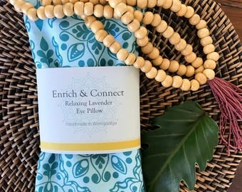 Relaxing Lavender & Linseed Eye Pillow; Yoga; Meditation; Wellbeing; Organic Lavender; Gift for Her; Relaxation