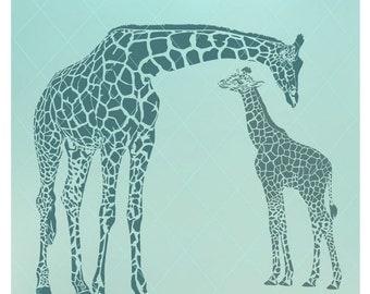 Mom and Baby Giraffe / Giraffe Family / Giraffe Svg / Giraffe Wall Decal / Baby Giraffe / Baby Room Decor / Giraffe Dxf / Giraffe Png