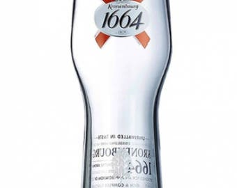 Engraved Kronenbourg Pint Glass. Personalised with your message. Great for Dad or a Kronenbourg lover!