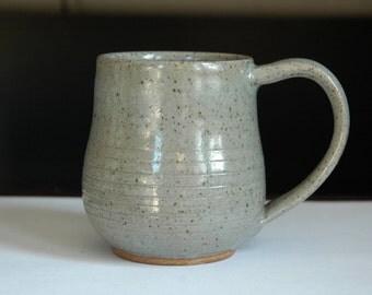 Simple Gray Ceramic Mug // Pottery Coffee Mug