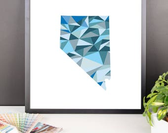 NEVADA State Pattern Map Print, Nevada Poster, Nevada Wall Art, Nevada Art, Nevada Gift, Nevada Decor, Nevada Print, Nevada State, Map Art